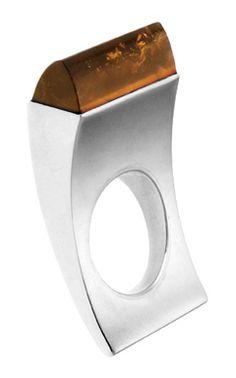 Gaál Gyöngyvér , Hungary: silver, quartz ring-