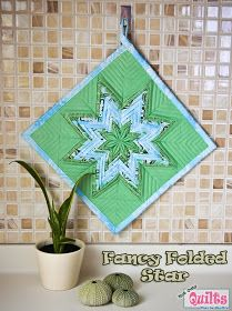 Moda Bake Shop: Fancy Folded Star Pot Holder