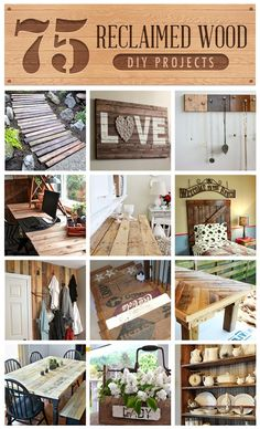 75 Reclaimed Lumber projects, curated by Funky Junk Interiors on HomeTalk.....this is for Guy!!!