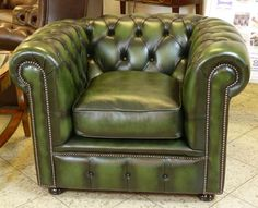 Gorgeous green: Rossendale Chesterfield Chair.