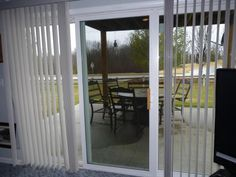 """Our customer said: """"I am very happy now that I made this purchase. The blinds have really added a sparkle to the patio opening and allowed the light to pour in throughout the day. With a quick pull on the cord, presto, room is darkened."""""""
