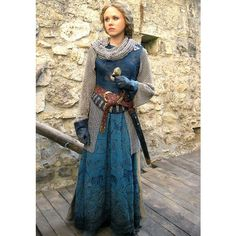 LARP costume, Empress Matilda - The Pillars of the Earth - chainmail with dress Costume Renaissance, Medieval Costume, Medieval Dress, Medieval Clothing, Gypsy Clothing, Historical Costume, Historical Clothing, Moda Hippie, Cosplay Costume