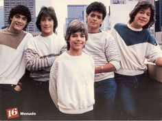 Menudo...this defined my 80's! Charlie, Roy, Ricky, Robby, & Ray