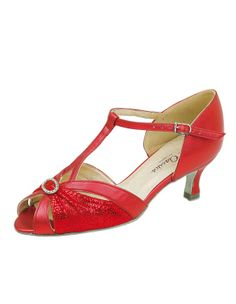 52c4f7052555 Capella red Sapphire EE Fit Ladies Dance Shoe 1021 From Flattering peep toe wide  fitting ballroom shoe