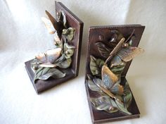 Vintage Bookends by CandyTheArtist on Etsy, $50.00