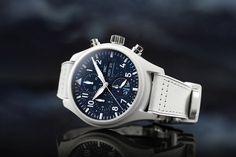 IWC Schaffhausen Inspiration4 Pilot's Watch Rolex, Iwc Pilot, Iwc Watches, Wear Watch, Space Race, Star Print, Luxury Watches, White Leather, Chronograph