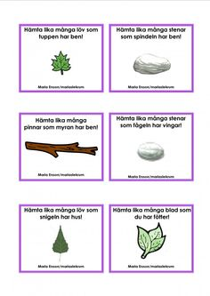 Mariaslekrum - Uppdragskort Outdoor Learning, Outdoor Activities, Activities For Kids, Teacher Tools, My Teacher, Preschool Math, Kindergarten, Learn Swedish, Swedish Language