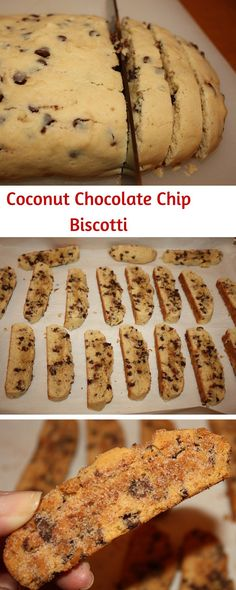 Call it mandel bread or biscotti…you are going to LOVE these Coconut Chocolate Chip Biscotti.  A user friendly recipe.  Bake until you have a golden treat.