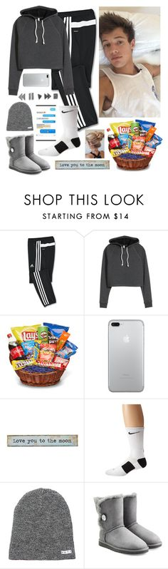 """Netflix withe Cameron Dallas"" by malrocks2003 ❤ liked on Polyvore featuring adidas, Junk Food Clothing, Natural Life, NIKE, Neff and UGG Australia"