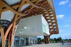 Wood framed structure at Centre Pompidou Metz, France