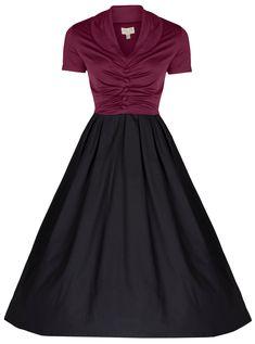 Lindy Bop Women's Elsa Classy 1950's Rockabilly Swing Jive Shirt at Amazon Women's Clothing store: