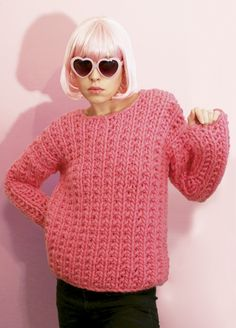 we are knitters - cotton candy sweater