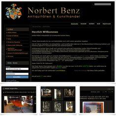 Internetseite Onlineshop Norbert Benz Antiquitäten / Leistungen: Webdesign, Technische Umsetzung / Techniken: Oxid eShop CE, PHP, Javascript, XHTML, CSS