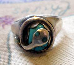 RING  SNAKE  TURQUOISE  Zuni  Sterling Silver  by MOONCHILD111, $39.95 https://www.etsy.com/shop/MOONCHILD111