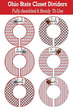 SIX Pre-Made Custom Baby Closet Dividers  Ohio by iDesignsbyKathy