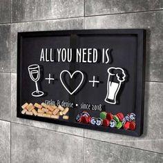 Canto Bar, Diy Bottle Opener, Gaming Lounge, Home Bar Decor, Home Bar Designs, Beer Caps, Wall Shelves Design, Wooden Gifts, Kitchen Art
