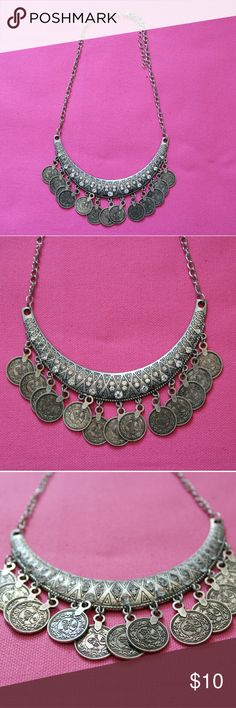 Silver Coin Necklace Details: Silver toned boho coin necklace  Brand: Boutique Brand  Size: One-Size  Condition: NWOT Jewelry