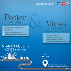 The World Standards Day competition is back. In past years, we've had first poster competitions, then video competitions – this year we have both. Poster Competition, We Need You, Definitions, Ads, World, Youtube, The World, Youtubers, Youtube Movies