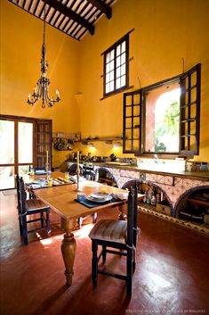Kitchen at Casa De Maquinas in Mexico.
