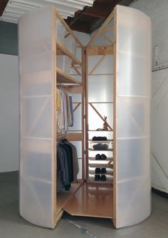 tuberoom translucent hinged walk-in closet by superorganism