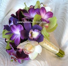 Wedding flowers - Purple and Green Orchids