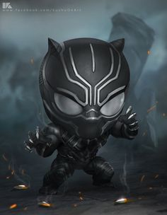 Chibi Black panther by kuchumemories9.deviantart.com on @DeviantArt