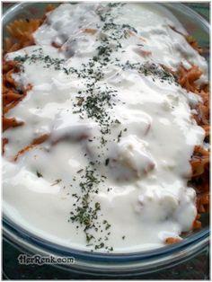 Sosta Pişen Makarna-Sosta Pişen Makarna, soslu makarna, makarna, yoğurtlu makarna,