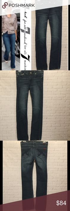 7 For All Mankind jeans women's 28 Bootcut exc con 7 For All Mankind jeans women's 28 Bootcut approx measurements 28x30.  These jeans are in EXCELLENT CONDITION free from any rips tears stains or discoloration and comes from a smoke free home.  Buy with confidence I am a top rated seller, mentor and fast shipper.  Don't forget to bundle and save.  Thank you. 7 For All Mankind Jeans Boot Cut