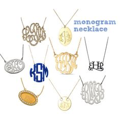 """""""monogram necklace"""" by thestylespy on Polyvore"""