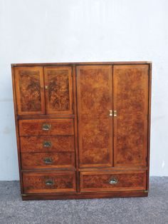 tall burl mid century hollywood regency armoire double dresser chest 6395 antique english mahogany armoire furniture