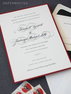 Our traditional wedding invitation is a lovely classic and a great choice for any stylish bride who loves a traditional look. These invitations just have to be seen in person to appreciate!