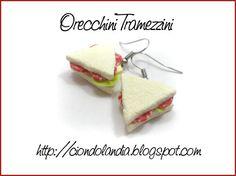 Orecchini Tramezzini al Salame__Charms Ciondoli Tramezzini _Fimo_Hand Made