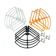 Coolplay® Syma X8 X8C X8W X8G Props Protective Frame Guard Spare Parts for RC Quadcopter ( 4 X black,4 X orange,4 X white) -- Visit the image link more details.
