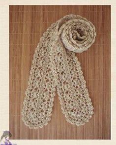 crochet cute scarf, crochet pattern --  free chart