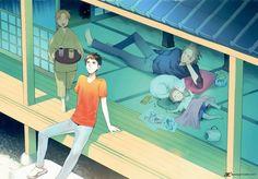 Youkai Apato no Yuuga na Nichijou Cartoon Games, Cartoon Movies, Light Novel, Nichijou, Shinigami, My Canvas, Black Butler, Make Time, Anime Love