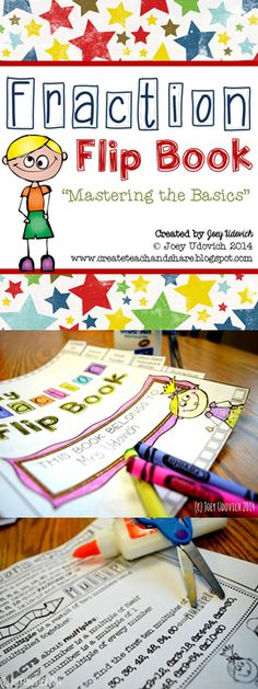 SIMPLE print, cut, glue, and color fraction flip book!  This is also offered in a BUNDLE!  Too cute! $