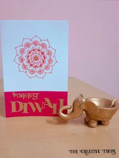 The creative twins : Diwali Greeting Card Ranganjali Diwali Dies Diwali Cards, Diwali Greeting Cards, Diwali Greetings, Diwali Diy, What Is Diwali, Diy Diwali Decorations, Festival Lights, Mandala Design, Cupid