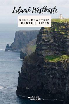 Lust auf einen Roadtrip entlang der wunderschönen Westküste von Irland? Meine Route, schöne Orte und Highlights, die du nicht verpassen solltest - inkl. meiner Erfahrungen als Alleinreisende und Tipps für deinen Solo-Roadtrip. Roadtrip, Highlights, Water, Outdoor, Europe, Ireland, Travel Report, Beautiful Places, Tips