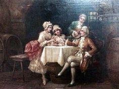 STEPHAN SEDLACEK (1868/ 1936)- ESCOLA EUROPÉIA, O.S.M , assinado C.I.E. Med 44 cm larg x 33 cm alt