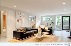 15 Modern and Contemporary Living Room Basement Designs | Home Design Lover