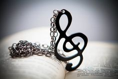 Treble Clef - Music - Mozart - Classical - Necklace on Etsy, $9.48
