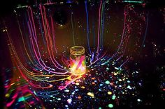 """One summer night my son and cut open light sticks and sprayed them all over the yard (non-toxic of course) kids love making designs and doing it in the dark with glowing """"paint"""" was amazing!!! Something every family should try"""