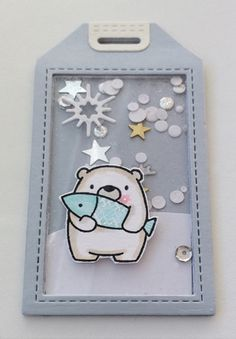Tag shaker tags winter christmas critters polar bear MFT Bitty bears Die-namics MFT Blueprints Tag Builder 5 Die-namics shaker tags #mftstamps - JKE