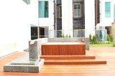 Jacuzzi and decking Cumaru (Tropical timber)