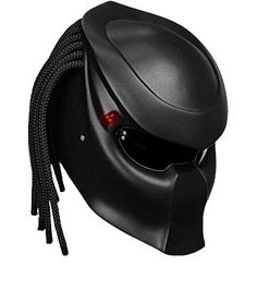 """When Batman got a helmet it made Predator all jealous so he whined to NLO Moto, """"WTF man? Predator crossover film and now he gets a full l Badass Motorcycle Helmets, Novelty Motorcycle Helmets, Biker Helmets, Motorcycle Style, Cool Motorcycles, Motorcycle Accessories, Riding Helmets, Style Moto, Predator Helmet"""