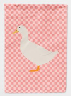 American Pekin Duck Pink Check Flag Canvas House Size BB7860CHF