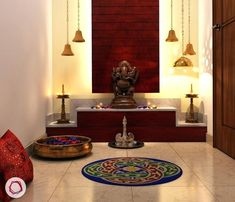 Traditional Indian Home Decorating Ideas - Home Decor Indian Style Ethnic Indian Home Decor Ideas - Indian Interior Design Ideas Living Room livingroommodern Indian Home Design, Temple Design For Home, Indian Interior Design, Indian Home Decor, Interior Design Living Room, Living Room Designs, Traditional Interior, Traditional Décor, Traditional Kitchens