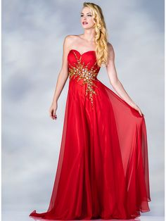 Tangerine Strapless Beaded Prom Dress. Style #: CJ85. Get yours today at www.SungBoutiqueLA.com