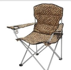 leopard folding chair- have to have! So I can go in style to watch Melia play softball have the cooler already need the chair now Leopard Animal, My Animal, Cheetah Print, Leopard Prints, Pink Cheetah, Camping Chairs, Folding Chair, My Favorite Color, Jaguar
