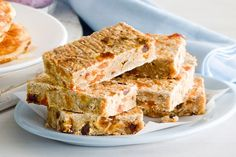 Super-healthy banana, apricot and date oat bars main image